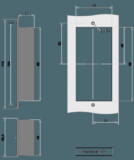 Dimensiones Montaje GV1